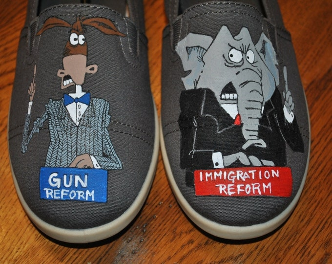 For Sale New Hand Painted Design for Political Humor 9.5 .