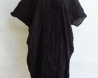 D3, Free Size Free Spirit Dark Brown Cotton Dress