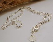 16 inch, 18 inch, 20 inch, 22 inch, 24 inch 26 inch, 28 inch and 30 inch Sterling Silver Ball Chain - Stamped .925 - 1mm and 2mm