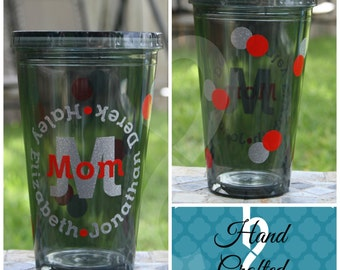 Personalized Acrylic Cup/Tumbler for Mom/Dad, Grandma/Grandpa, (or anyone!)