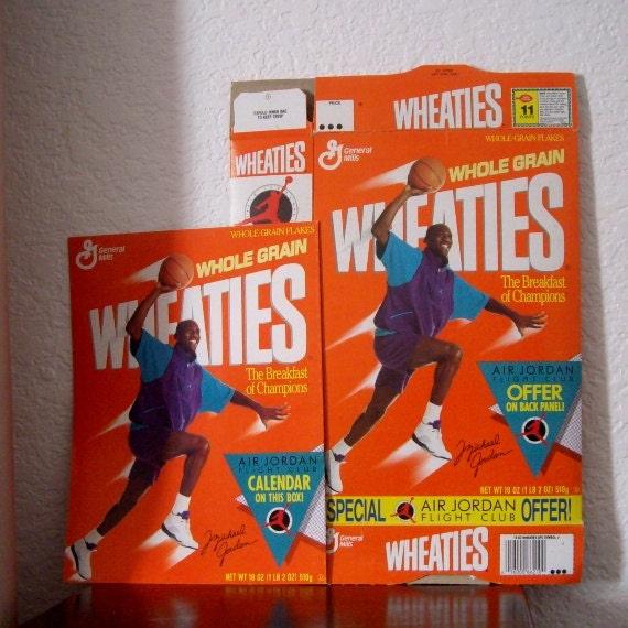 Collectible Cereal Box Michael Jordan 1989 Wheaties Cereal