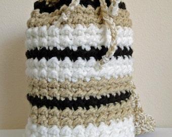 """Crochet Bag / Purse / Tote """"Mocha"""""""