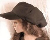 Black Fleece Lined Brimmed Tam