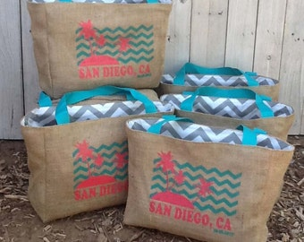 7 Eco-Friendly Custom Tote Bags - Handmade from Recycled Coffee Sacks