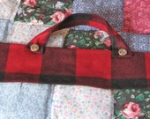Custom Order For Humbugling/ 1/16 Bow Case/Red and Black Flannel