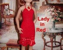 Lady In Red Crochet Pattern For Ellowyne Fits Antionette Digital Download by djemorin