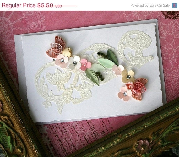 On Sale Quilled All Occasion Card Pinks