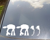 AT-AT Family Car Sticker with Walker Pets/Kids