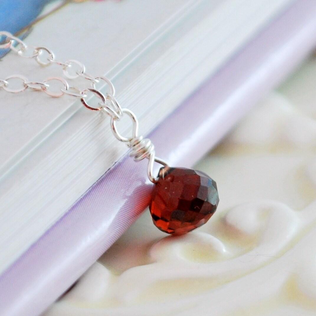 garnet birthstone necklace child children girl red jewelry. Black Bedroom Furniture Sets. Home Design Ideas