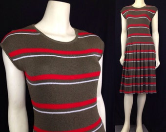 Vintage 1980s Knits Collection drop waist knit sweater dress