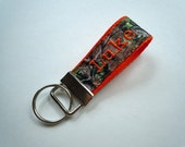 Personalized Keychain Ringlet  FULLY CUSTOMIZABLE With Your Choice of Colors and Patterns