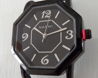 Narmi Black Octagon Watch Face