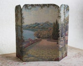 Miniature Room Screen or Divider Terrace View Lake Como  1:12 Scale