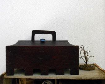 Primitive Vintage Handmade Box OOAK