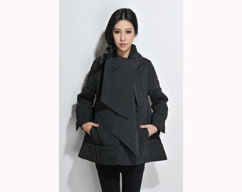 Leisure Style Light Padded  Coat with  scarf / 6 Colors/ RAMIES