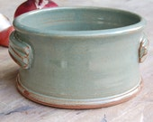 4 Cup Casserole Dish in Green, Ceramics and Pottery Stoneware Baking Crock Small Oven-safe Baker