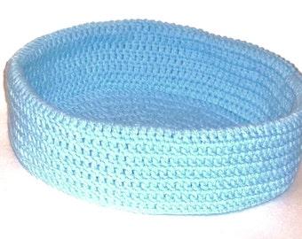 Storage Organizer Crochet Basket Cat Bed