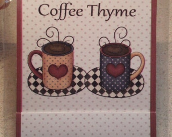 Qty. of 4 Coffee Thyme Mini Nail Files [Matchbook Style]