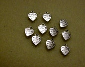 Silver Made With Love Charms (10 pcs)