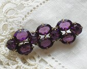 Antique Edwardian Amethyst Paste Lace Pin Brooch