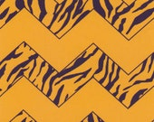 Fabric Finders Gold with Purple/Gold Tiger Stripe Chevron
