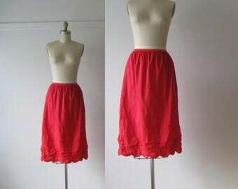 Cherry Tart / 60s slip / vintage 1960s lingerie