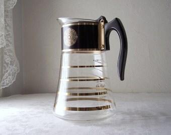 vintage david douglas flameware coffee carafe - mid century glass coffee pot