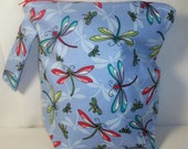 Soaring Dragonflies Large Project Pouch