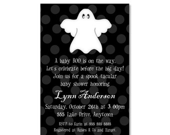 SALE: Halloween Baby Shower Invitation - Ghost  - You Print