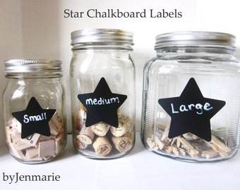 Star  Chalkboard Labels