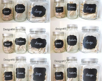 30 SMALL Chalkboard Labels any design
