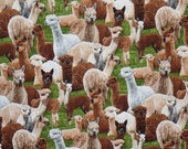 Fabulous Alpaca Print Pure Cotton Fabric from Elizabeth's Studios-One Yard