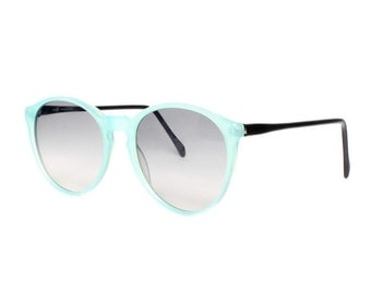 vintage blue round sunglasses - small sun glasses for women child teenager - extra small sunglasses - size xs