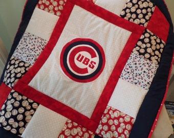 Customized Baseball Baby Quilt