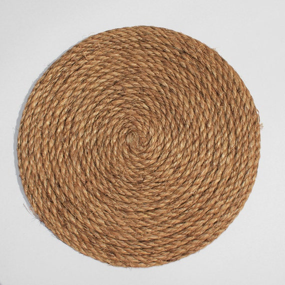 Coiled rope tabletop centerpiece large by cr8somethingoriginal for Large nautical rope