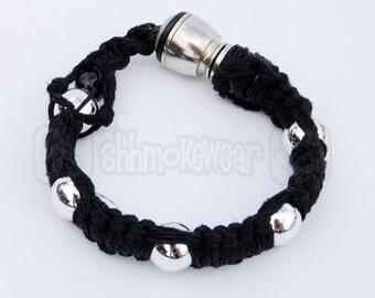 """Shhmokewear """"Super Stealth"""" Metallic Original HEMP Wrist Hookah Bracelet Pipe"""