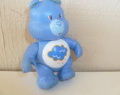 Vintage Care Bear Grumpy Bear Poseable PVC