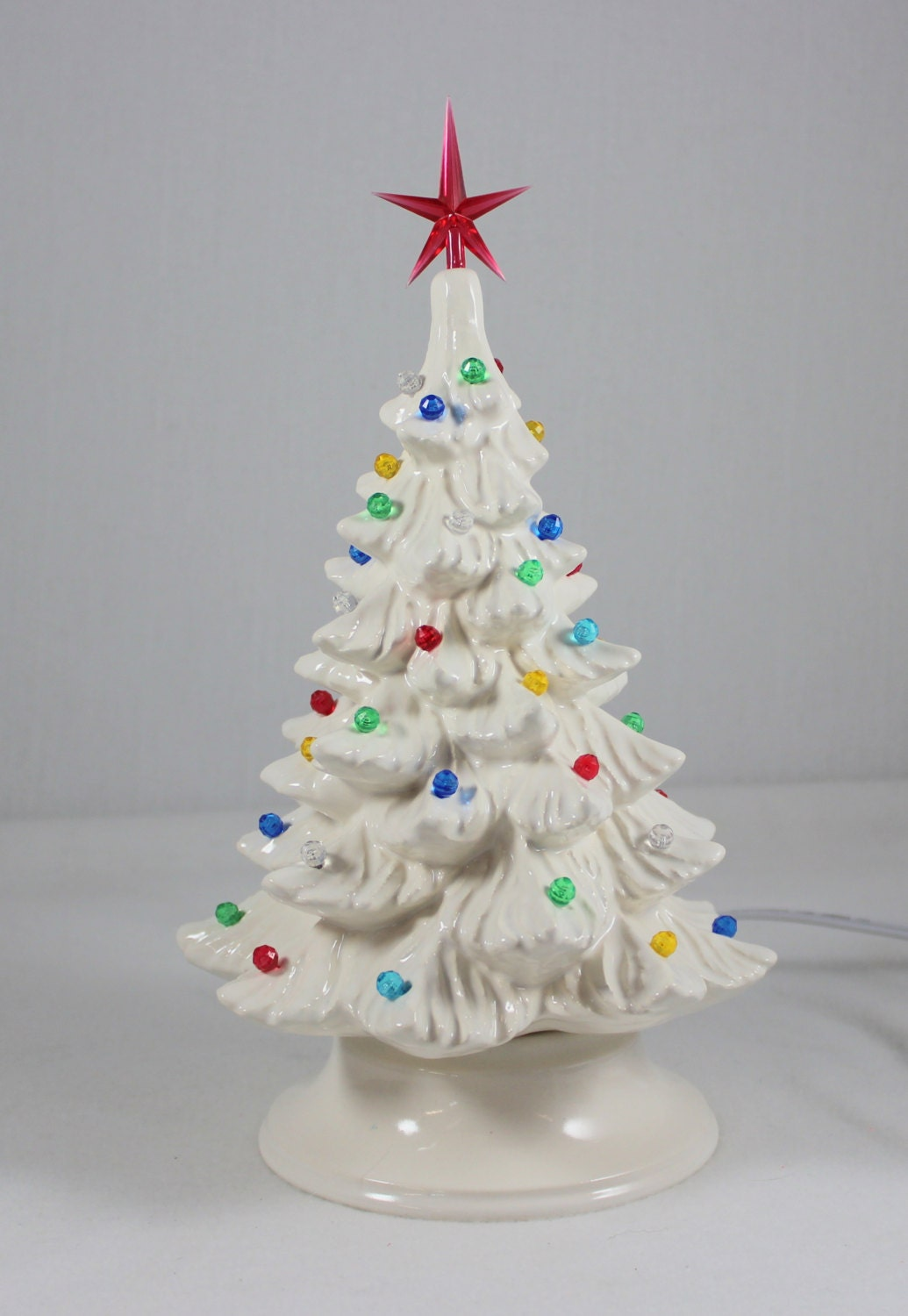 Christmas Pottery Barn Knock Offs And Others Too: Ceramic Christmas Tree 11 1/2 White Handmade By