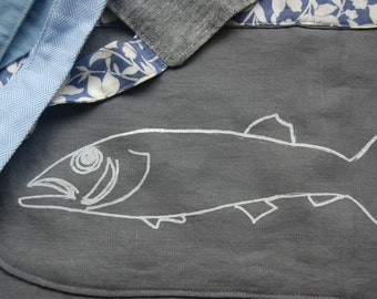 Graceanna Field Apron - White Fish