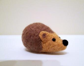 ON SALE - Hedgehog Miniature - Needle Felted Animal
