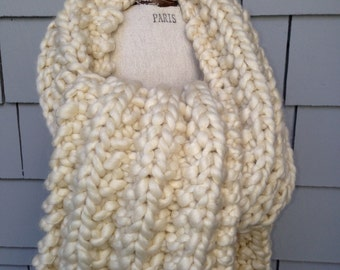 Super Soft Handmade Knitted Chunky Scarf