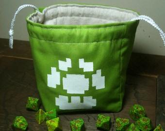 Pixel Mushroom Dice Bag