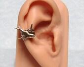 Sparrow Feather Ear Cuff ' right ear '