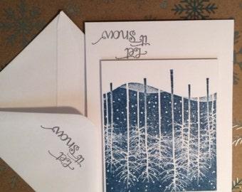 6 Winter Wonderland Christmas Cards, Holiday Cards, Greeting Cards, Christmas Cards, Christmas Card Set