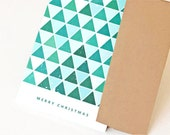 Christmas Card, Greeting Card, Holiday Card // TRIANGLE TREES