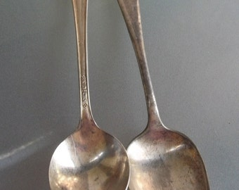 Vintage Roger Brothers Serving Spoons
