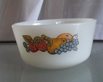 Vintage Small Fire King Custard Cup