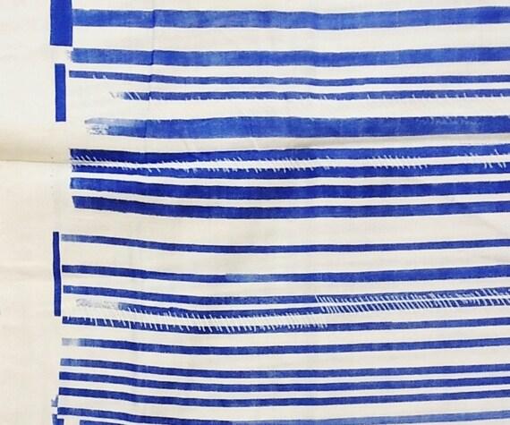 Nani iro blue stripe - 45cm