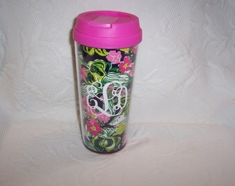 Personalized Lilly Pulitzer Insulated Thermal Mug TIGER LILLY