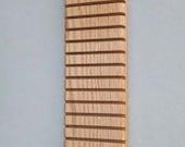"Quilter's Hanging Longarm Ruler Rack - Oak - 1/4"" slots"
